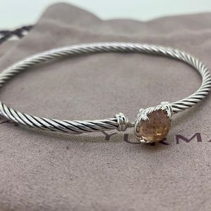David Yurman Chatelaine Cable Bracelet Morganite